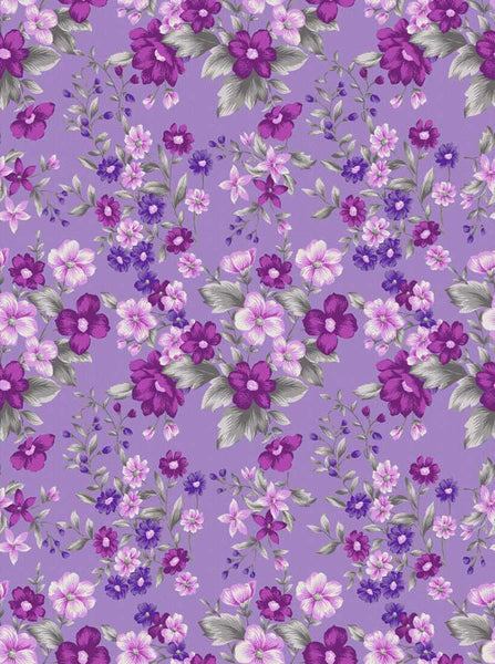 946 Purple Flower Backdrop - Backdrop Outlet