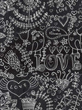 9507 Chalkboard Love Hearts Backdrop - Backdrop Outlet