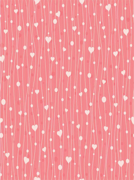 String of Hearts Backdrop - 9520 - Backdrop Outlet