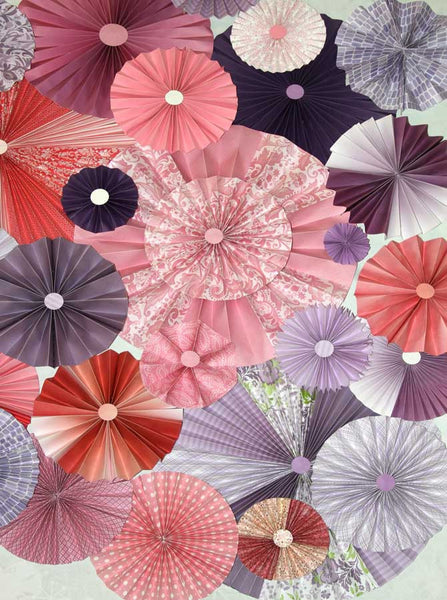Pinwheel Rosettes Pink Purple Lilac Blush Lavender Backdrop - 9647 - Backdrop Outlet