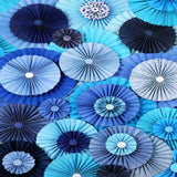 Blue Pinwheels Backdrop - 9669 - Backdrop Outlet
