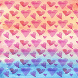 9684 Watercolor Hearts Backdrop - Backdrop Outlet