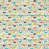 9689 Printed Hearts Wood Backdrop - Backdrop Outlet