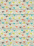 Printed Hearts Wood Backdrop - 9689 - Backdrop Outlet