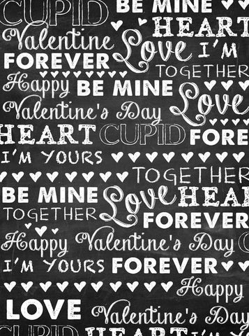 9691 Love Forever Chalkboard Backdrop - Backdrop Outlet