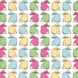 Easter Colorful Bunny Land Backdrop - 9719 - Backdrop Outlet
