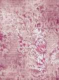 Printed Pink Floral backdrop - 9743 - Backdrop Outlet