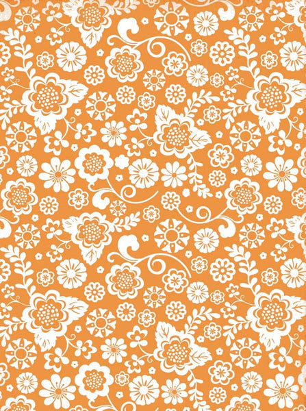 Orange Flower Backdrop - 9746 - Backdrop Outlet
