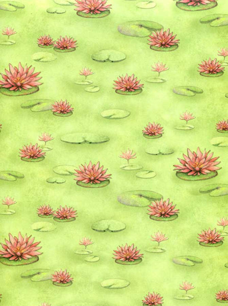 Lilly Pad Backdrop - 9756 - Backdrop Outlet