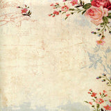 Vintage Floral Ivory Backdrop - 9762 - Backdrop Outlet