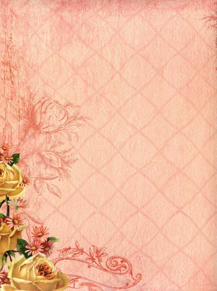 Coral Floral Wedding Backdrop - 9765 - Backdrop Outlet