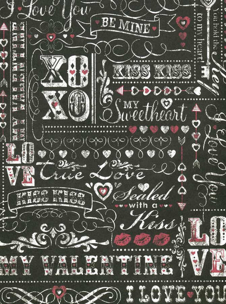 Chalkboard Love Valentine Be Mine Backdrop - 9795 - Backdrop Outlet