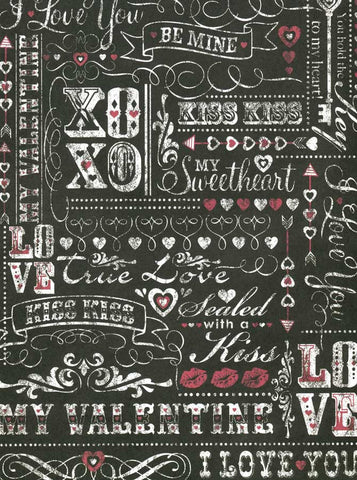 9795 Chalkboard Love Be Mine Backdrop - Backdrop Outlet
