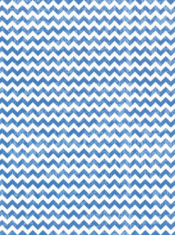 9810 Blue Chevron Backdrop - Backdrop Outlet