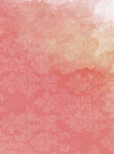 Abstract Watercolor Damask Coral Backdrop - 9872 - Backdrop Outlet