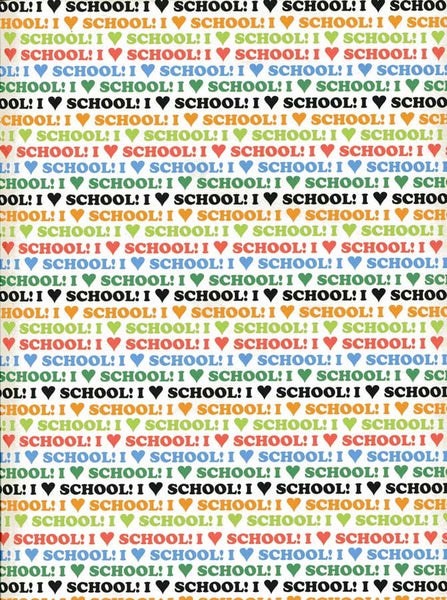 I Love School Backdrop Back to School Background - 9896 - Backdrop Outlet