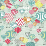 9898 Printed Hot Air Balloons Photo Backdrop - Backdrop Outlet