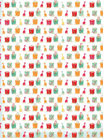 9904 Beach Bucket Backdrop - Backdrop Outlet