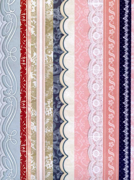9924 Pink Blue Pattern Stripes Backdrop - Backdrop Outlet