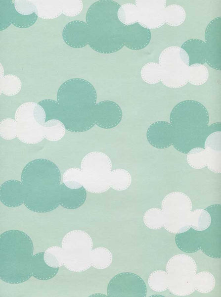 9928 Teal Clouds Backdrop - Backdrop Outlet