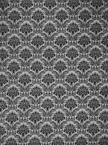 MC008 Black And Grey Damask Backdrop - Backdrop Outlet