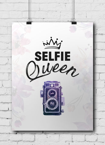 Photographer Poster Crown Selfie Queen - POSTER038