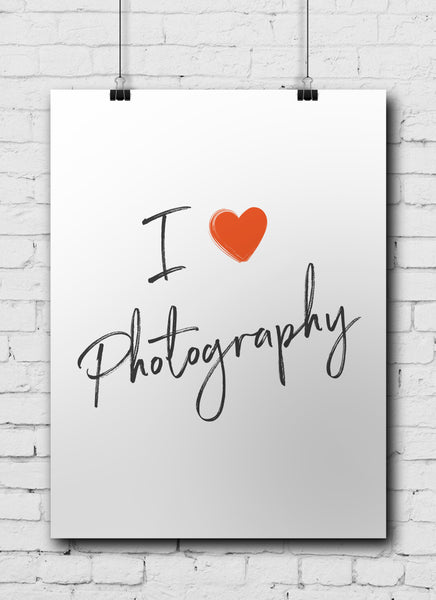 Photographer Poster I Love Photography - POSTER041