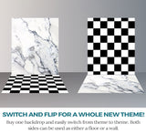 S100 White Marble Checkerboard Pattern Switchover Backdrop - Backdrop Outlet