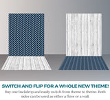 S116 Lace Cotton Wood Navy Blue Stacked Tiled Switchover Backdrop - Backdrop Outlet