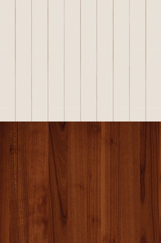 Cream Striped Cinnamon Wood Switchover Backdrop - S112 - Backdrop Outlet