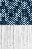 Lace Cotton Wood Navy Blue Stacked Tiled Switchover Backdrop - S116 - Backdrop Outlet