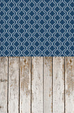 S117 Whitewashed Grunge Moroccan Indigo patterned Switchover Backdrop - Backdrop Outlet