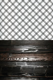 S123 Criss Cross Black Striped Modern Plank Wood Switchover Backdrop - Backdrop Outlet