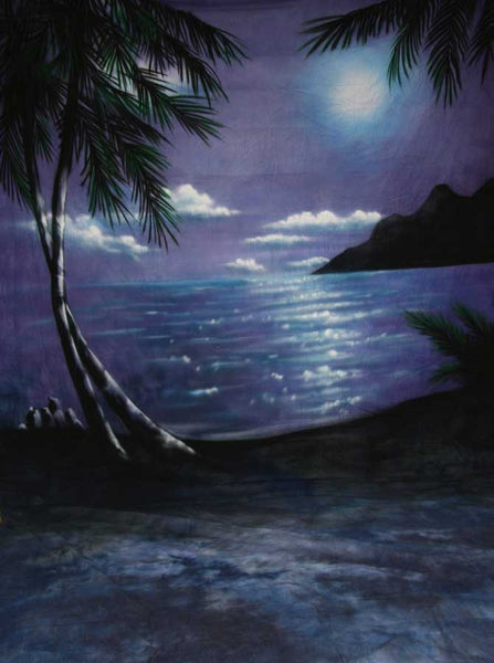 ST2020 Beach Blue Moon Prom Backdrop - Backdrop Outlet