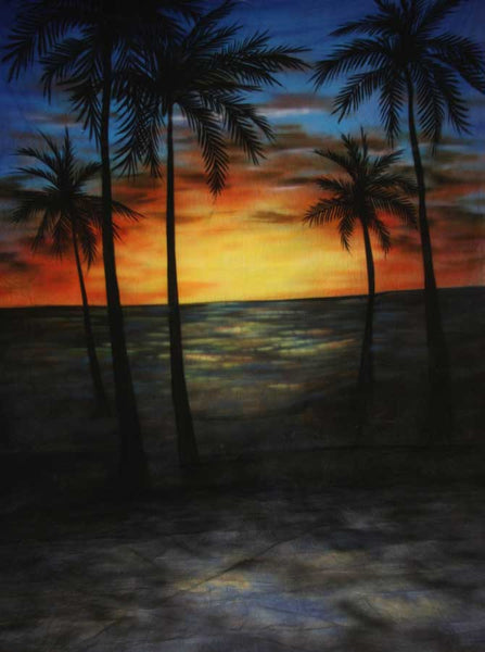 Beach Painted Sunset Backdrop St2024 Backdrop Outlet