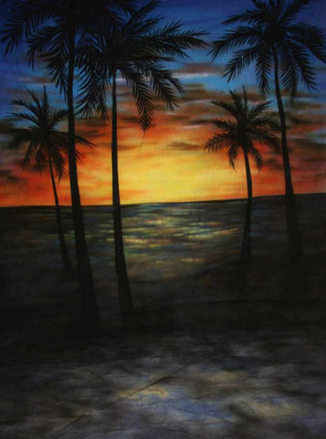 ST2024 Beach Painted Sunset Backdrop - Backdrop Outlet