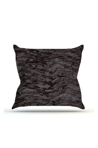 PRP730 Black Wave Cloth Posing Pillow Cover - Backdrop Outlet