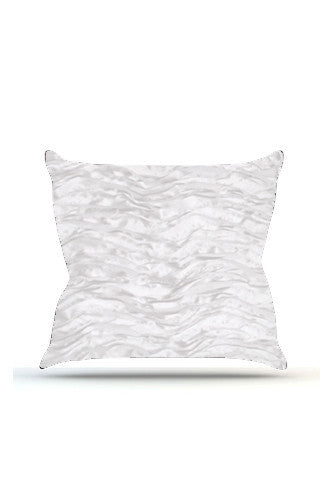 PRP731 White Wave Cloth Posing Pillow Cover - Backdrop Outlet