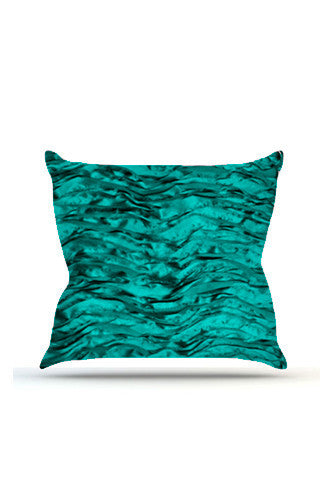 PRP738 Teal Wave Cloth Posing Pillow Cover - Backdrop Outlet