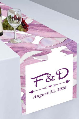 PTR105 Purple Flower Petal Printed Cloth Table Runner - Backdrop Outlet
