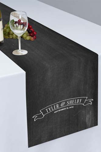 PTR114 Chalkboard Banner Printed Cloth Table Runner - Backdrop Outlet