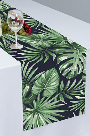 PTR130 Palm Leaves Cloth Table Runner - Backdrop Outlet