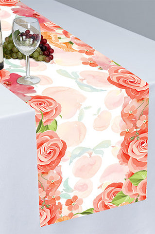 PTR131 Sweet As A Peach Cloth Table Runner - Backdrop Outlet