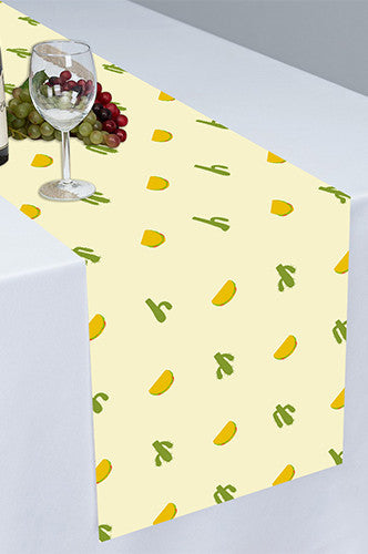 Taco Bout A Party Cloth Table Runner - PTR132 - Backdrop Outlet