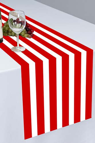 PTR128 Red Pirate Cloth Table Runner - Backdrop Outlet
