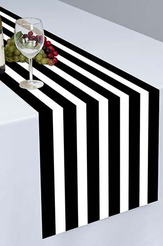 Black Pirate Cloth Table Runner - PTR129 - Backdrop Outlet