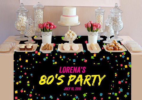 PTTC103 Custom 80's Party Table Topper - Backdrop Outlet