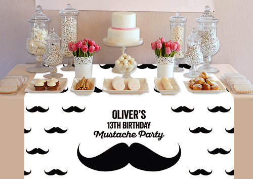 Custom Mustache Table Topper - PTTC104 - Backdrop Outlet