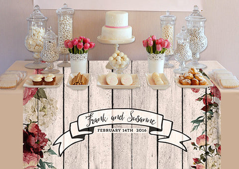 PTTC117 Custom Rose Wood Table Topper - Backdrop Outlet