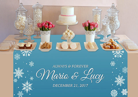 PTTC120 Custom Frozen Snowflake Table Topper - Backdrop Outlet